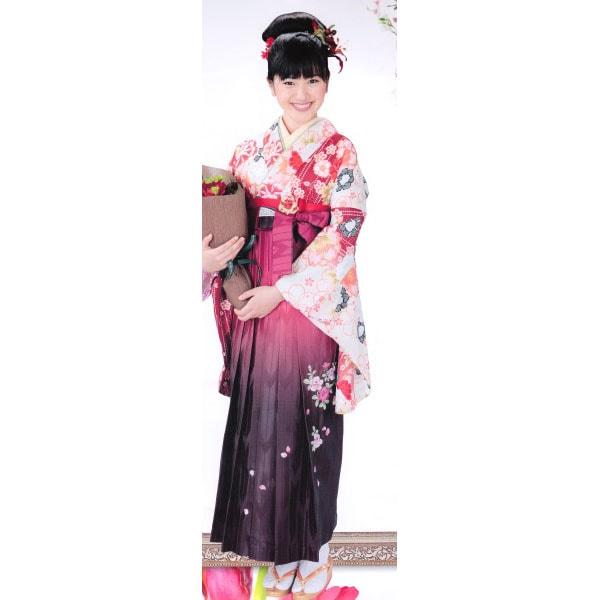 袴レンタル|アシュエル|ベージュ地着物&刺繍袴|No.100-117