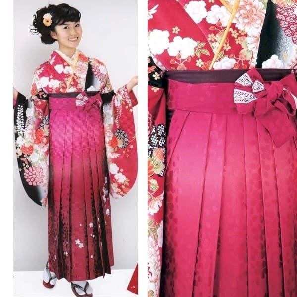 2016HL赤地二尺袖とHL赤刺繍袴