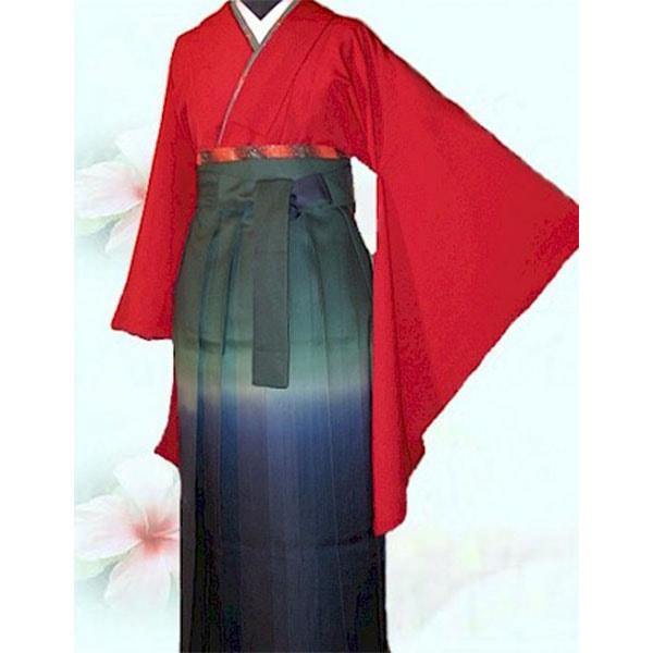 103エンジ二尺袖グラデ袴