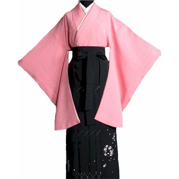 108地模様入ピンク着物刺繍袴セット