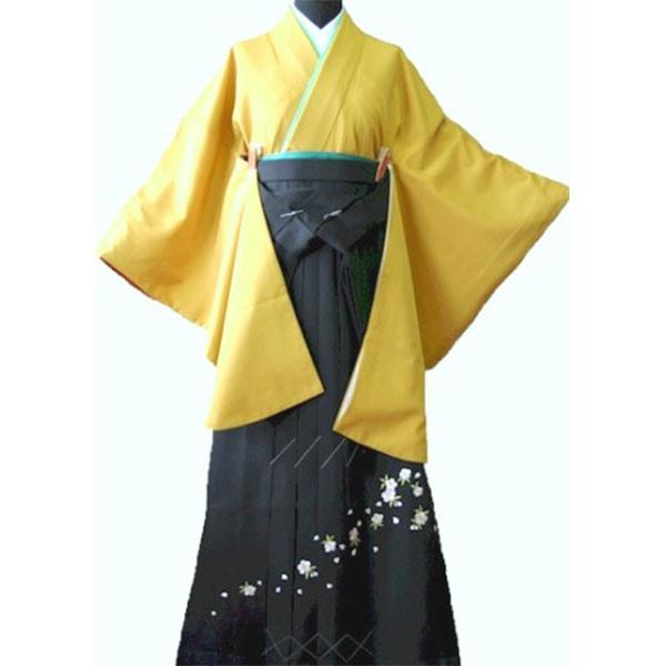119からし色着物刺繍袴
