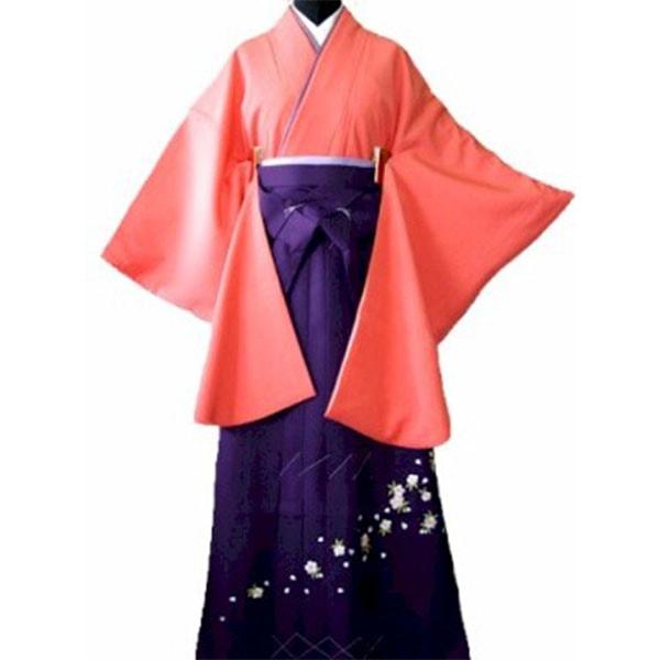 120サーモンピンク着物刺繍袴