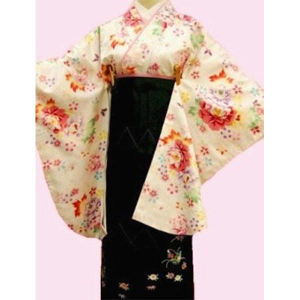 155HL白地着物刺繍袴フルセット