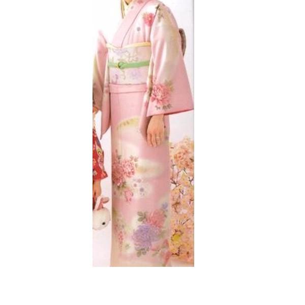 乙葉|淡いピンク・上前刺繍|200-1