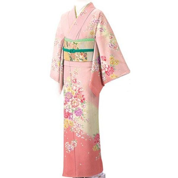 訪問着|fromkyotoピンク刺繍|フルセットNo.200-13