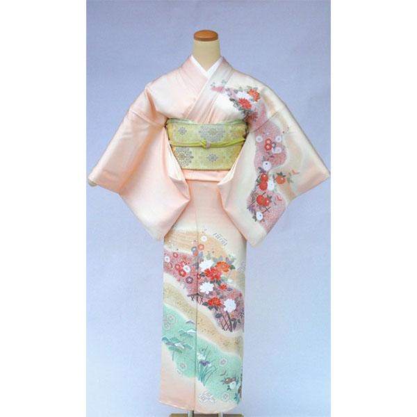 訪問着|京都・淡いピンク暈し|フルセットNo.200-31
