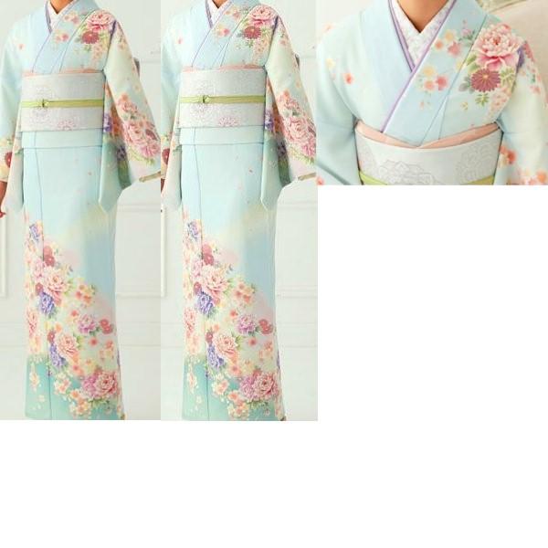 JAPANSTYLE|水色地花柄|No.200-40