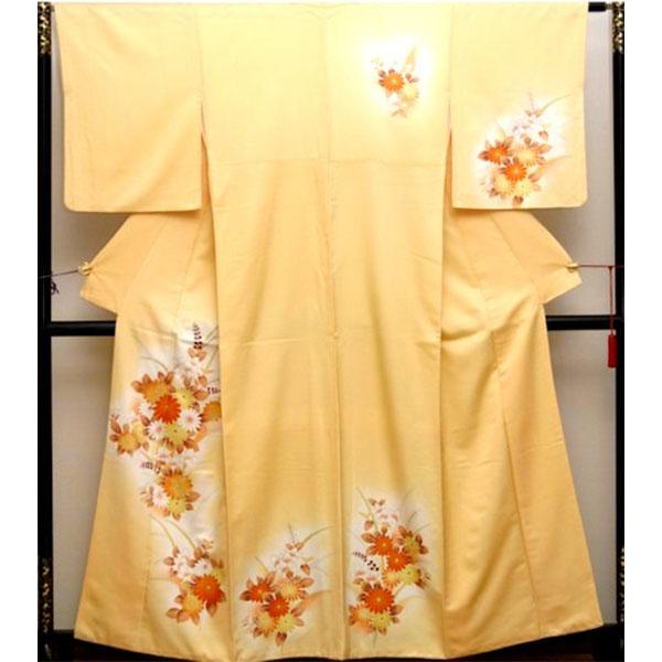 訪問着|京都・黄色花柄|フルセットNo.230