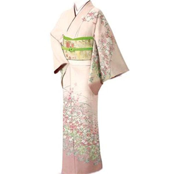 訪問着|京都・淡いピンク暈し|フルセットNo.263