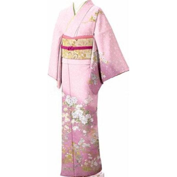 訪問着|京都・綺麗なピンクグラデーション|フルセットNo.281