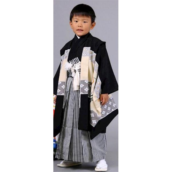 七五三|五歳|乙葉ブランド|京都|黒地・世界遺産富士山|柄袴|No.571