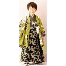七五三レンタル|五歳|式部浪漫|落ち着いた若草色・柄袴