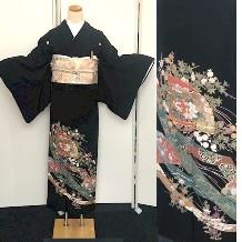 黒留袖|扇子・四季No.600-13