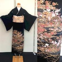 黒留袖|御所車・四季No.600-14