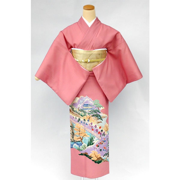 色留袖|ピンク|平安絵巻600-1i