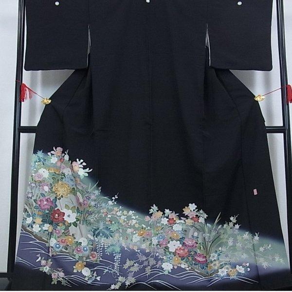 黒留袖 京友禅 作家物 花舟文No.600-20