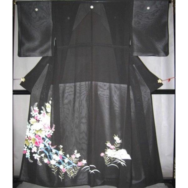 黒留袖|正絹|夏絽No.618