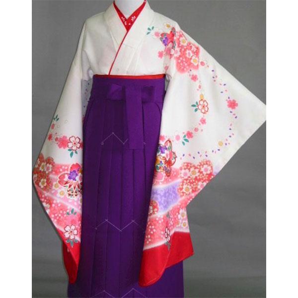 白地桜/紫袴731h