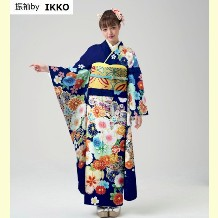 振袖|IKKOブランド|2020最新作入荷|正絹|No.800-67|紺地・金糸刺繍・生地の良さ・ご注文後お仕立