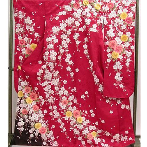 振袖|成人式|HL赤地桜|可愛い着物もお手軽にNo.810