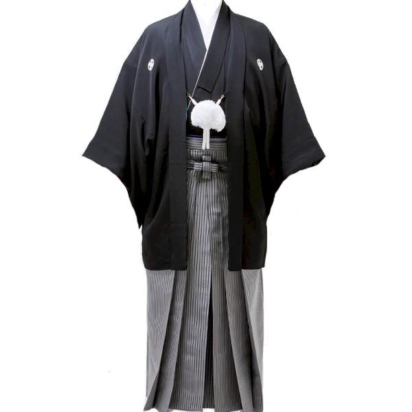 紋付袴|黒|男性の結婚式や卒業式No.901-2