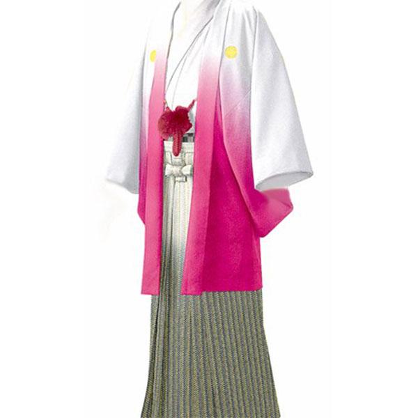 紋付き袴|ピンク暈しNo.904