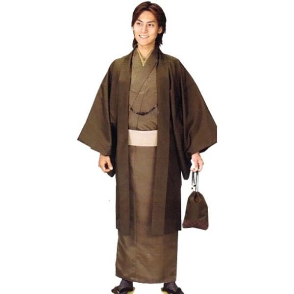 男性着物|HL|茶・羽織濃茶No.907