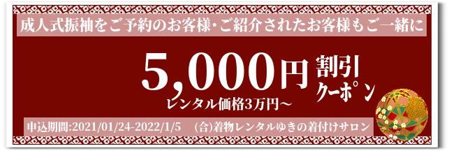 着物レンタル成人式振袖【5,000円クーポン】